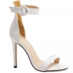 Simple Ankle Strap and Stiletto Heel Design Sandals For Women