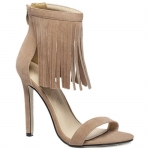 Stylish Fringe and Suede Design Sandals For Women