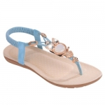 Elegant Elastic and Flip Flop Design Women's Sandals