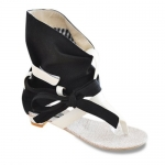 Rome Splice and Bow Design Women's Sandals