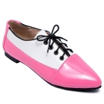 Point Toe Color Block Flat Shoes