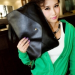 Trendy Rivet and Envelop Design Women's Clutch Bag