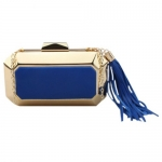 Stylish Tassel and Splicing Design Evening Bag For Women