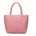 Fashionable Solid Color and Daisy Embossing Design Tote Bag For Women
