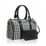 Casual Bucket Shape PU Leather Checked Design Women's Tote