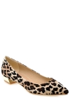 Trendy Leopard Print and Suede Design Flat Shoes For Women