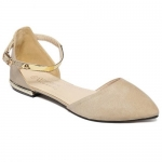 Sweet Pointed Toe and Two-Piece Design Flat Shoes For Women