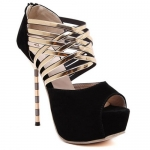 Sweet Stiletto Heel and Peep Toe design Pumps for women