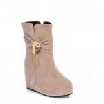 Fashion Sequins and Fringe Design Women's Short Boots