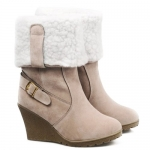 Simple Wedge and Slip-On Design Women's Snow Boots