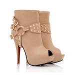 New Style Fashion Stiletto Heel Buckle Embellished Peep-Toed Pumps For Women