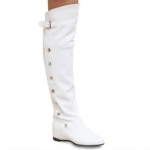 Fashionable Metal Rivets and Increased Internal Design Women's Thigh Boots